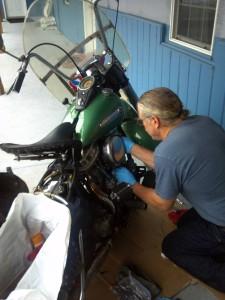 3 Sturgis 2014 Wed am adjusting valves