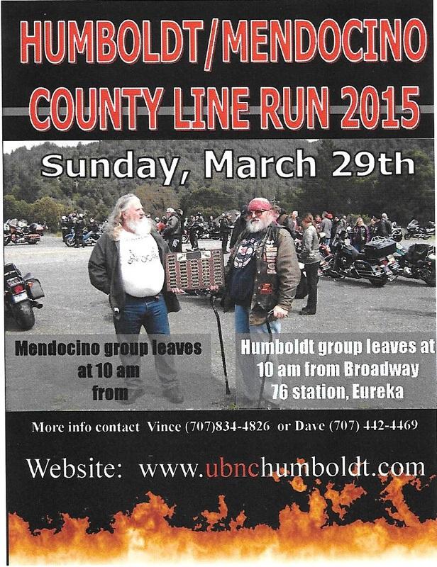 Humboldt / Mendocino County Line Run Poster 2015
