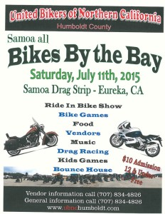 Bikes by the Bay 2015 poster