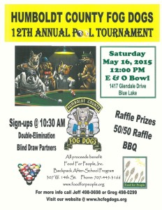 Fog Dogs Pool Tournament 2015