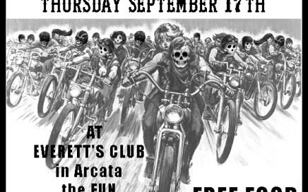 M.O.B. of Humboldt Bike Nite September 2015 poster