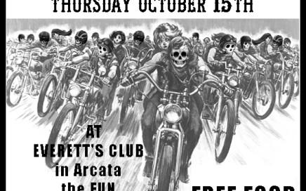 M.O.B. of Humboldt CA Bike Nite October 2015 poster