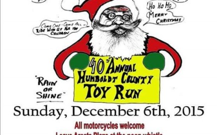 40th annual Humboldt County Toy Run 2015 poster